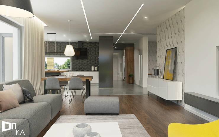 Salon: styl , w kategorii Salon zaprojektowany przez TIKA DESIGN,Nowoczesny Beton