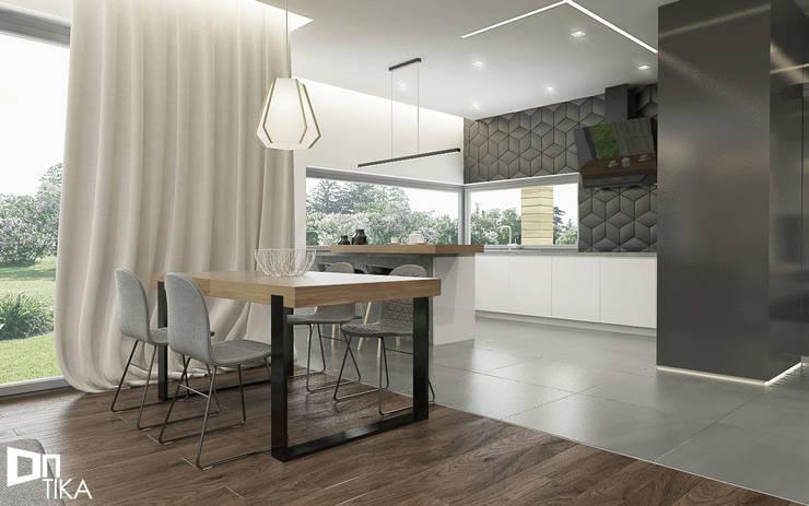 Jadalnia: styl , w kategorii Jadalnia zaprojektowany przez TIKA DESIGN,Nowoczesny Drewno O efekcie drewna