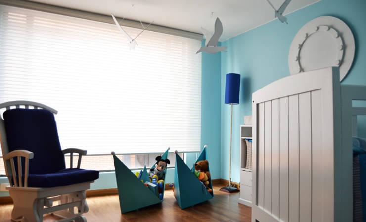 APARTAMENTO 94: Habitaciones infantiles de estilo  por santiago dussan architecture & Interior design