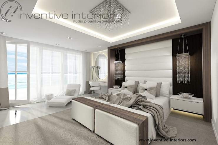 INVENTIVE INTERIORS – Dom z widokiem: styl , w kategorii Sypialnia zaprojektowany przez Inventive Interiors,Klasyczny