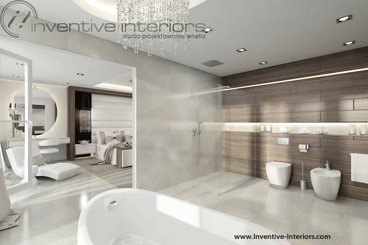 INVENTIVE INTERIORS – Dom z widokiem: styl , w kategorii Łazienka zaprojektowany przez Inventive Interiors,Nowoczesny Marmur