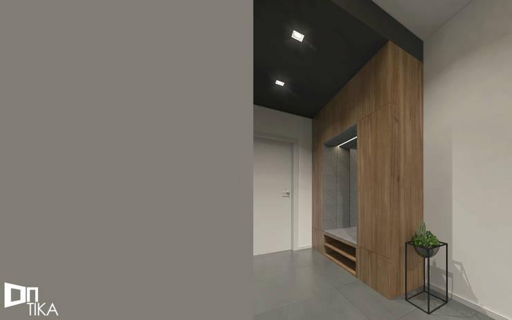 Hol: styl , w kategorii Garderoba zaprojektowany przez TIKA DESIGN,Nowoczesny Drewno O efekcie drewna