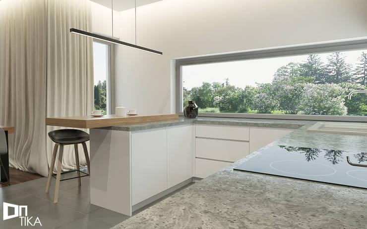 Kuchnia: styl , w kategorii Kuchnia zaprojektowany przez TIKA DESIGN,Nowoczesny Beton