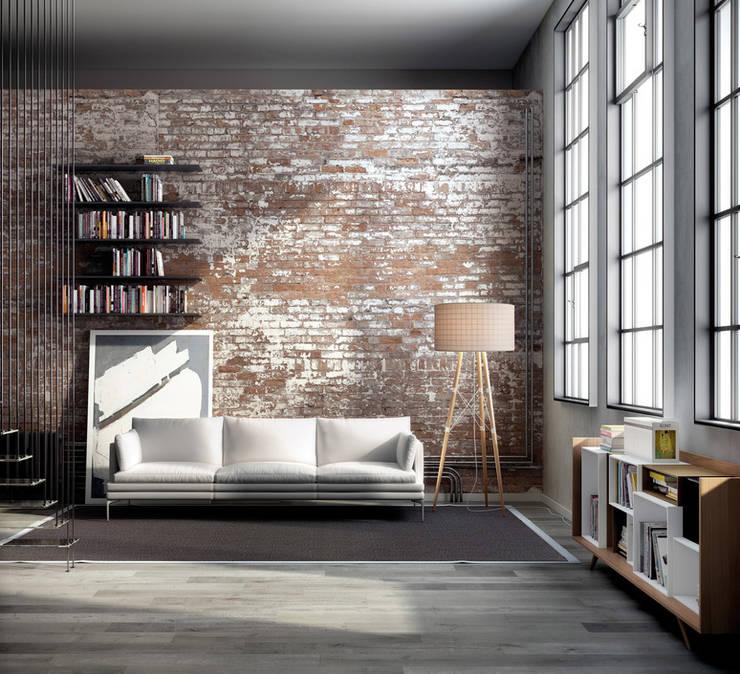 Lampadaire, WIRE LIGHT, blanc, chêne, H197CM - B-LUX: Salon de style  par NEDGIS