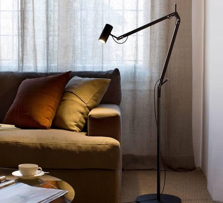 Lampadaire d'architecte, POLO, noir, LED, H120CM - Marset: Salon de style  par NEDGIS