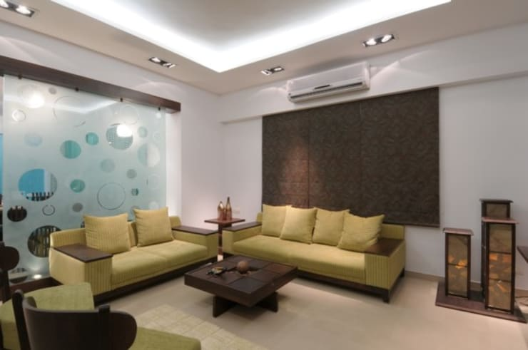 A SHOW APARTMENT:  Living room by Archana Shah & Associates