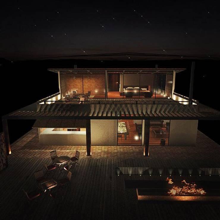 Casa en Guasca, Cundinamarca.:  de estilo  por Gamma Arquitectos