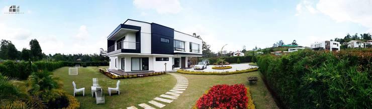 Casa L - La Pradera: Casas de estilo moderno por Andres Hincapie Arquitectos