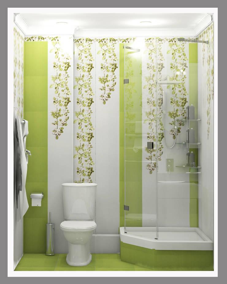 Совмещенный санузел Вид 1: Ванные комнаты в . Автор – Рязанова Галина