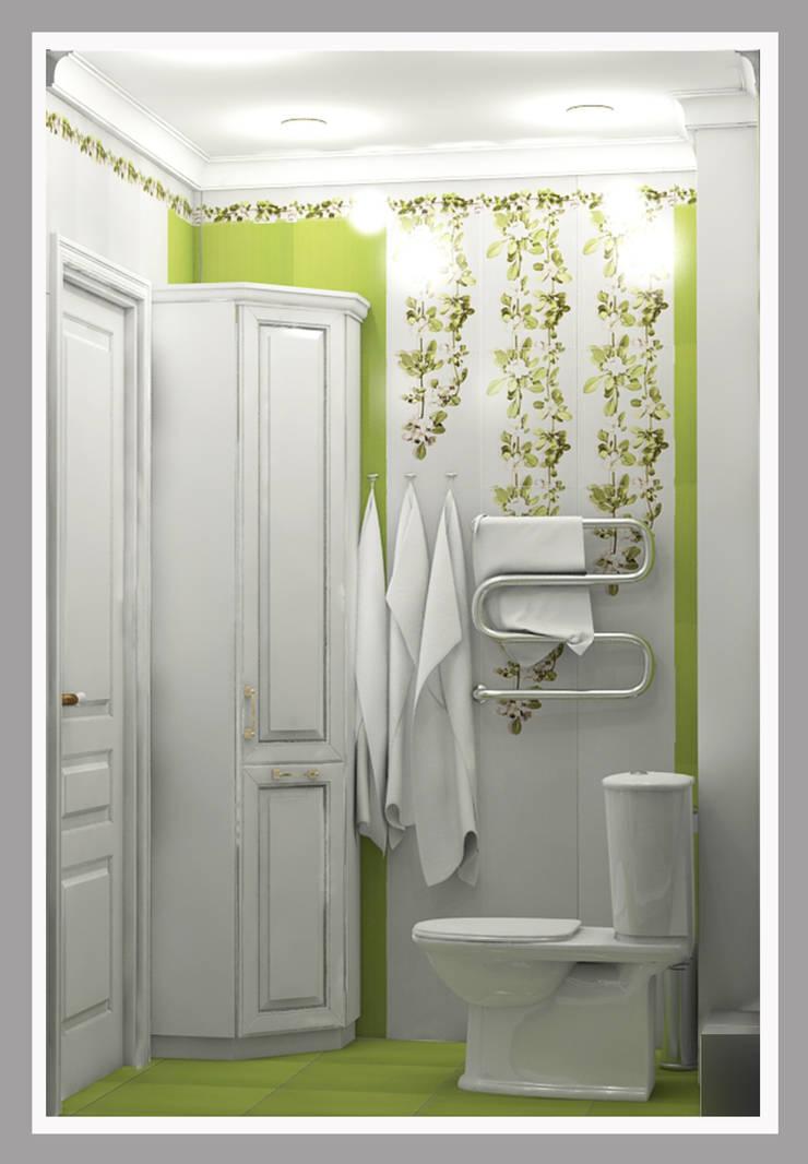 Совмещенный санузел Вид 2: Ванные комнаты в . Автор – Рязанова Галина