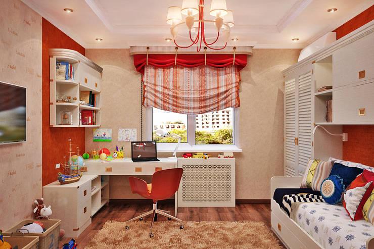 Морское настроение для детской Детская комната в стиле модерн от Студия дизайна Interior Design IDEAS Модерн