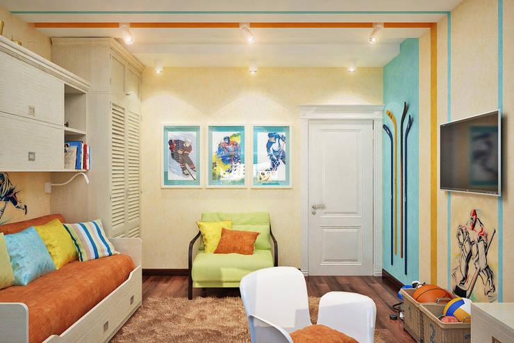 Интерьер детской для маленького хоккеиста Детская комната в стиле модерн от Студия дизайна Interior Design IDEAS Модерн