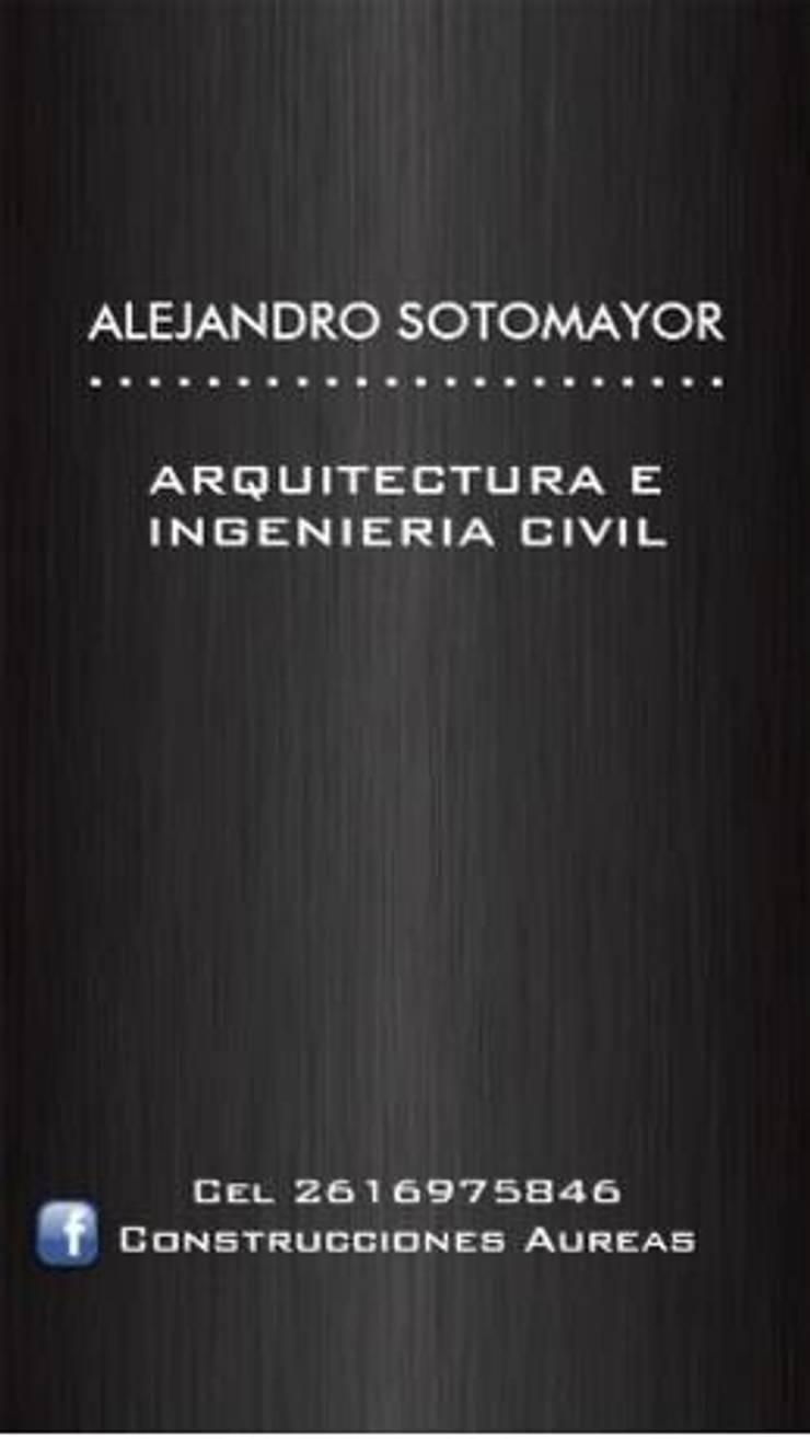 Departamento Moderno: Casas de estilo  por Construcciones Aureas,