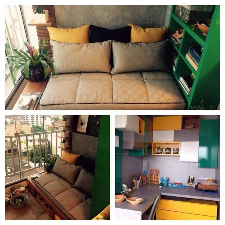 ATELIER NA SACADA: Terraços  por Ana Levy | Arquitetura + Interiores ,Moderno