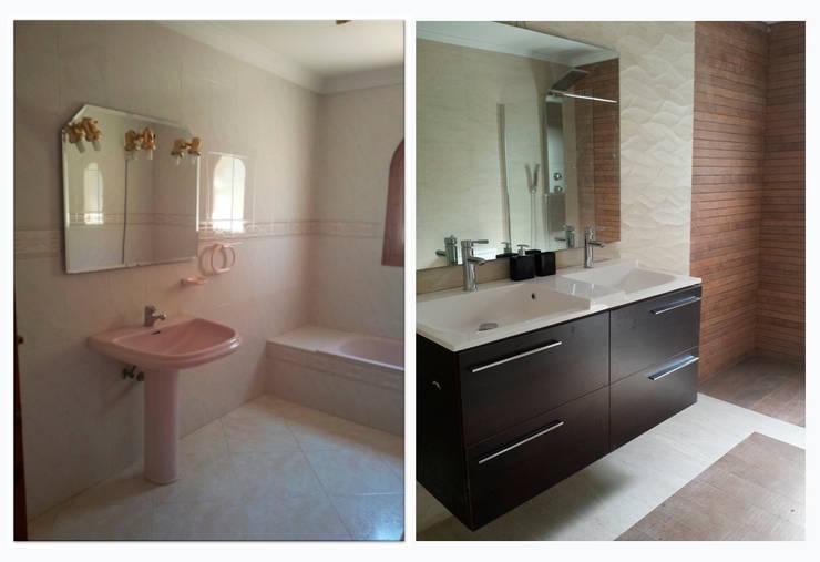 chalet en Javea: Baños de estilo moderno de torradoarquitectura