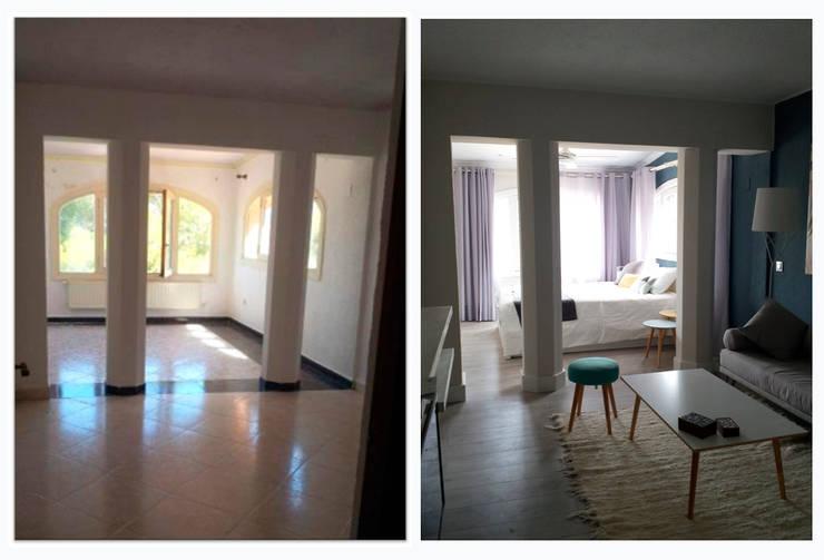 chalet en Javea: Dormitorios de estilo moderno de torradoarquitectura