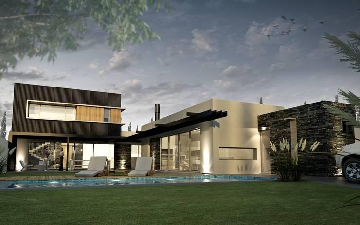 Vivienda en Rincon de Emilio, Neuquen Capital, Argentina Casas modernas: Ideas, imágenes y decoración de Chazarreta-Tohus-Almendra Moderno