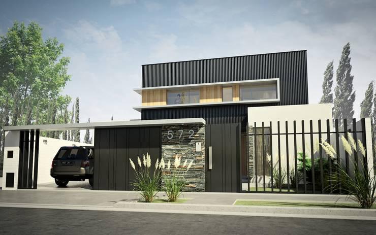 Vivienda en Rincon de Emilio, Neuquen Capital, Argentina: Casas de estilo  por Chazarreta-Tohus-Almendra