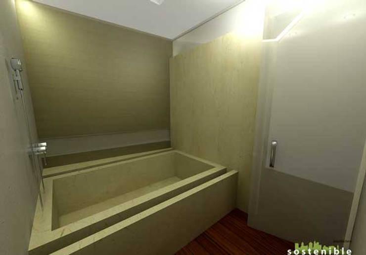 Casa Coyoacán Monserrat: Baños de estilo  por ARQUITECTURA SOSTENIBLE