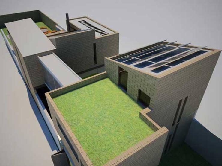 Casa Metepec: Terrazas de estilo  por ARQUITECTURA SOSTENIBLE