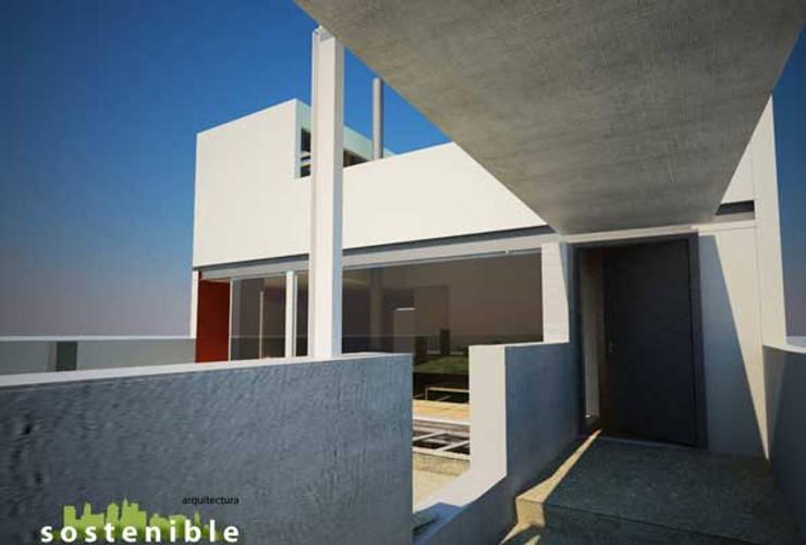Casa Metepec: Casas de estilo  por ARQUITECTURA SOSTENIBLE