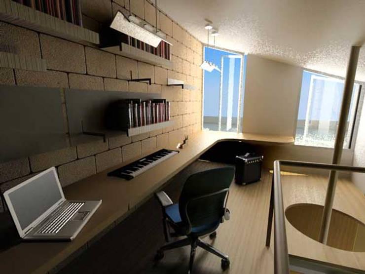 Casa Metepec: Estudios y oficinas de estilo  por ARQUITECTURA SOSTENIBLE