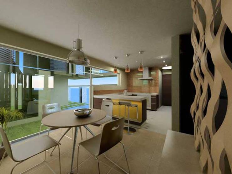 Casa Metepec: Salas de estilo  por ARQUITECTURA SOSTENIBLE