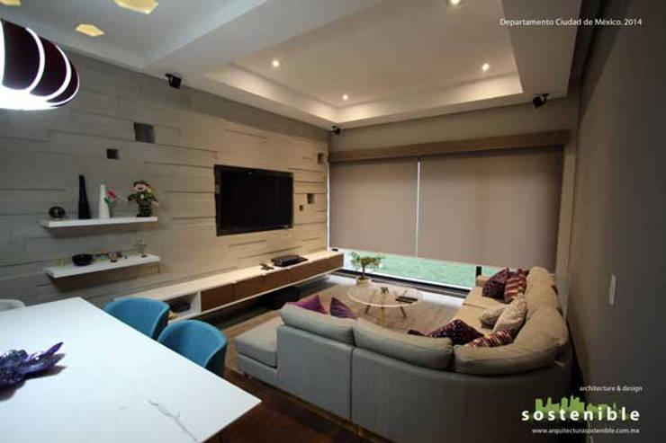Livings de estilo moderno por ARQUITECTURA SOSTENIBLE
