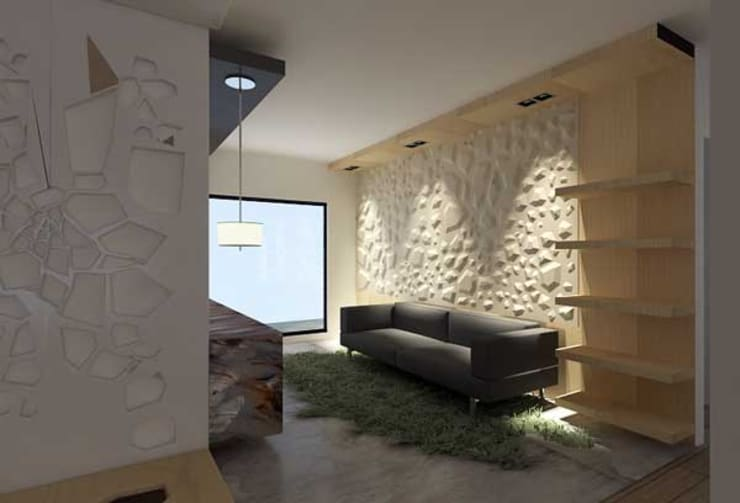 modern Living room by ARQUITECTURA SOSTENIBLE