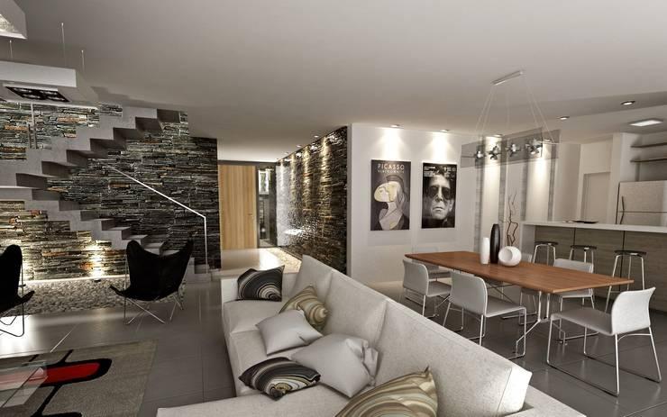 Phòng khách by Chazarreta-Tohus-Almendra