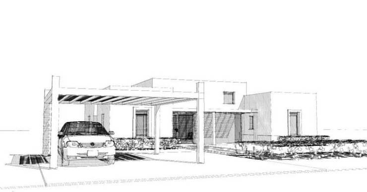 Casa La Budita:  de estilo  por LAGOS & MIDDLETON arquitectos asociados,Moderno