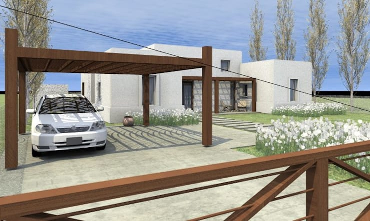 Casa La Budita: Casas de estilo  por LAGOS & MIDDLETON arquitectos asociados,Moderno