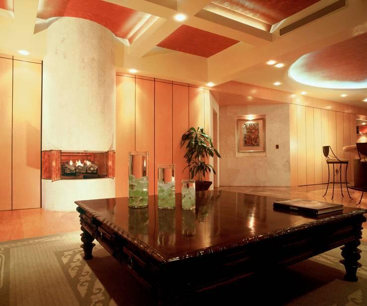 Departamento Campos Eliseo: Salas de estilo  por Diseño Integral En Madera S.A de C.V.