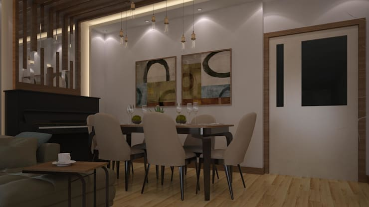 RUBA Tasarım – salon: modern tarz Yemek Odası