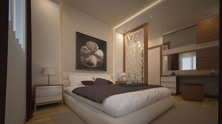 RUBA Tasarım – yatak odası: modern tarz Yatak Odası