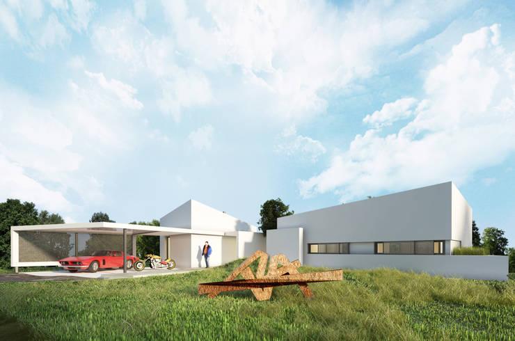 Vivienda SchV: Casas de estilo  por síncresis arquitectos
