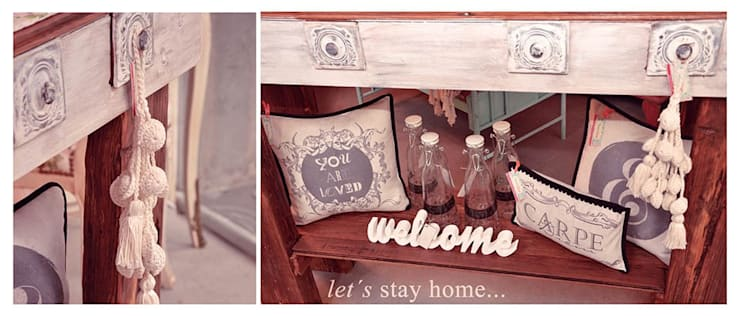 Decoración de interiores: muebles country chic & vintage: Hogar de estilo  por 27-30548217-5,