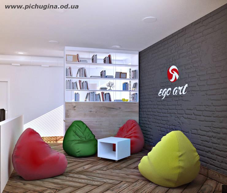 Офис завода Офисные помещения в скандинавском стиле от Tatyana Pichugina Design Скандинавский Кирпичи