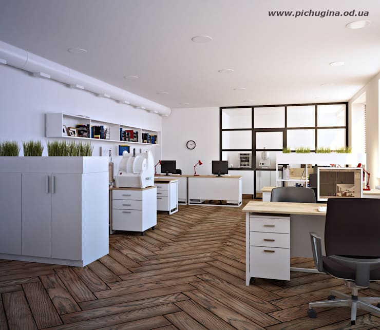Офис завода Офисные помещения в скандинавском стиле от Tatyana Pichugina Design Скандинавский