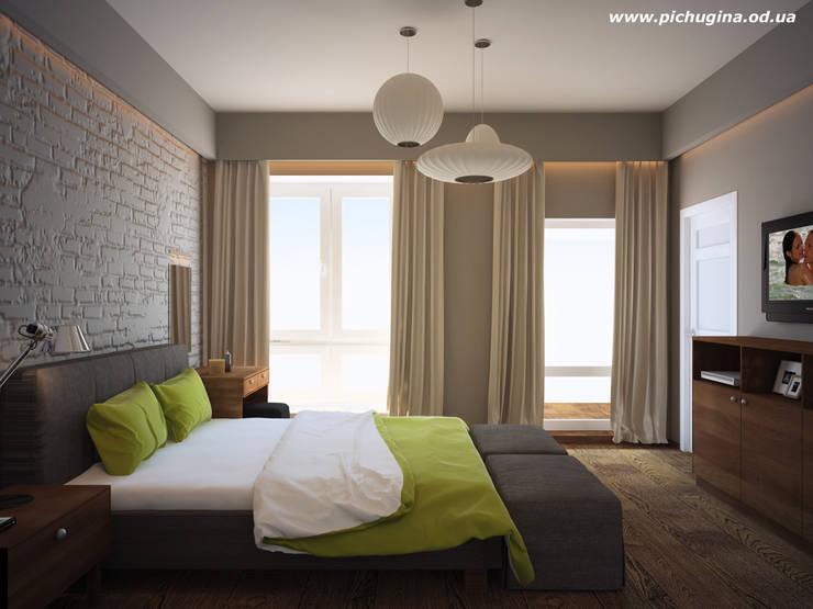 Дом, 180 м.кв. Спальня в стиле модерн от Tatyana Pichugina Design Модерн