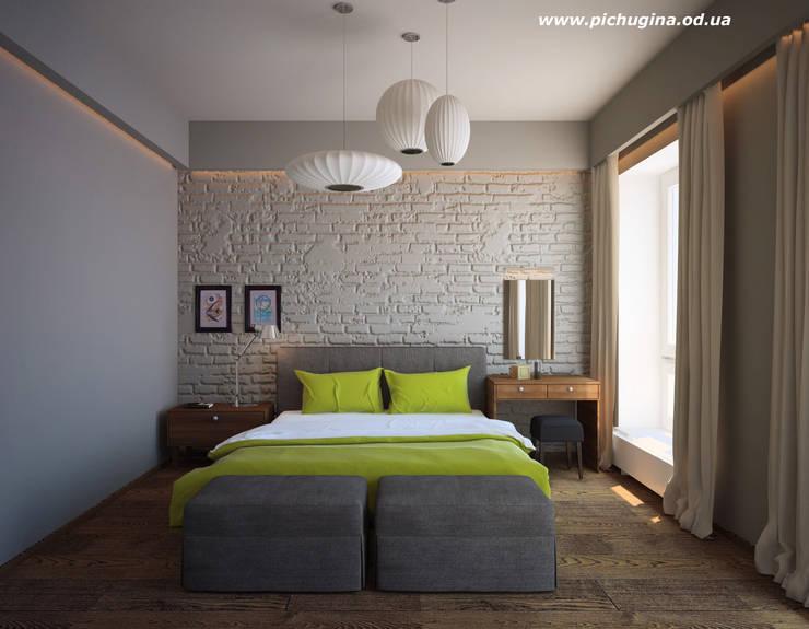 Дом, 180 м.кв. Спальня в стиле модерн от Tatyana Pichugina Design Модерн Кирпичи