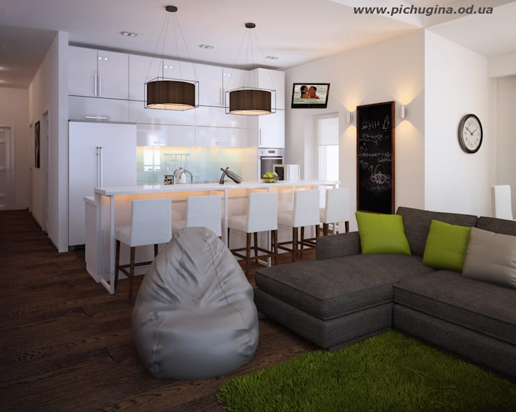 Дом, 180 м.кв. Кухня в стиле модерн от Tatyana Pichugina Design Модерн