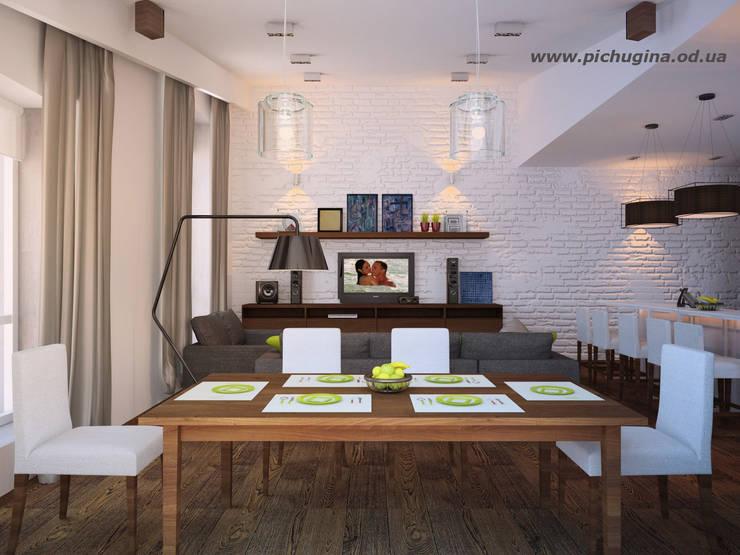 Дом, 180 м.кв. Столовая комната в стиле модерн от Tatyana Pichugina Design Модерн Кирпичи