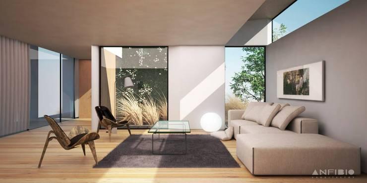 PAPER HOUSE: Livings de estilo  por Anfibio Arquitectos