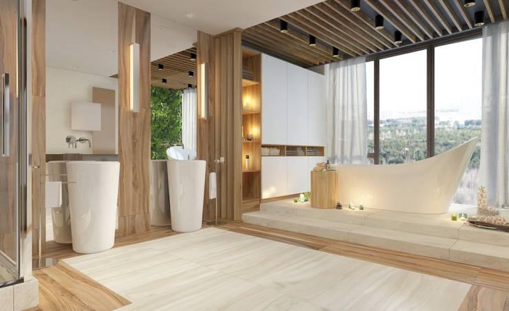 Дизайн-проект ванной комнаты. Пентхаус. Ванная комната в эклектичном стиле от Катя Волкова Эклектичный