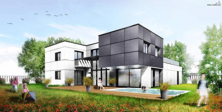 Maison Contemporaine: Maisons de style  par SARA Architecture