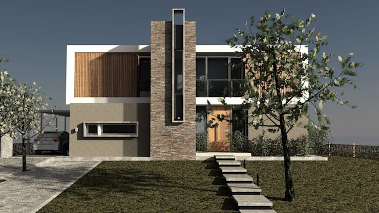 Vivienda Unifamiliar en Barrio el Canton Casas modernas: Ideas, imágenes y decoración de Estudio Maraude Arquitectos Moderno