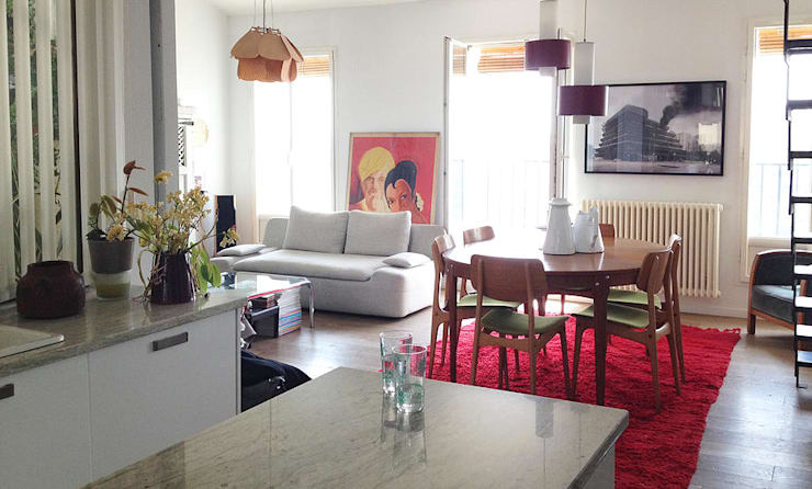 Appartement La Joliette: Salle à manger de style  par Genghis Studio