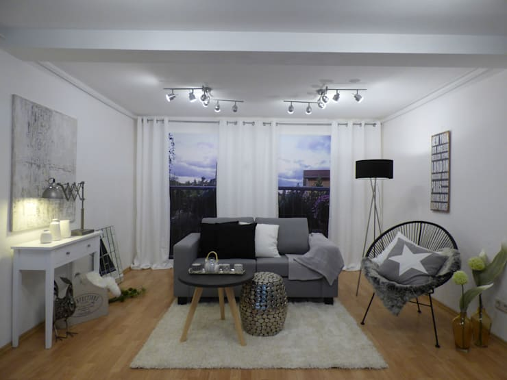 Salas de estar modernas por Birgit Hahn Home Staging