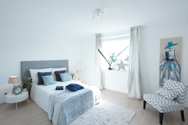 Home Staging Geerbte Immobilie:  Schlafzimmer von Birgit Hahn Home Staging